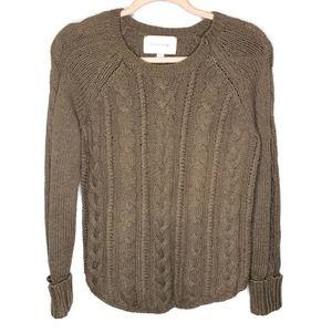 Brochu Walker cable knit side zip sweater